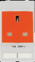 Steckdosenmodul England - orange