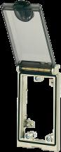 MSDD Cadre simple, Métal argent, Avec couvercle transparent