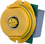 Modlink Steckv M12 A-kod/Klemme gelb