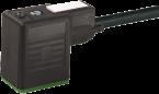 Connecteurs pour électrovannes MSUD, forme B / 10 mm, noir, 24 V AC/DC