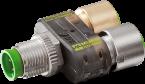 T-M12 SlimLine à LED M12-Mâle 5pol/ 2x M12-Fem. 4pol