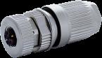 Connecteur M12 femelle droit codé L , raccordement rapide
