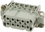 A10 Buchse 10-polig, Schraub, 250 V, 16 A