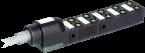 Exact8, 10xM8, 3-pol., câble fixe