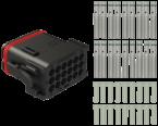 Set Zentralstecker 18-pin mit A-kodierung, 18 x Kontakte + 18