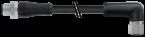 M12 Power L-kod. 4pol. St. 0° / Bu. 90°