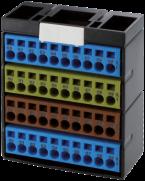 Bloc de connexion - bleu/jaune/brun/bleu
