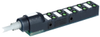 Exact8, 10xM8, 3-pol., sortie câble