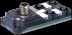 Exact12, 4xM12, 5-pol., sortie M12 12-pol.