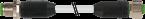 Rallonge MASI68 M12 mâle droit noir,