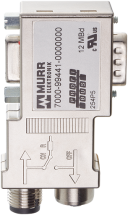 Adaptateur M12/SUB-D Profibus 90°