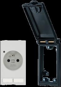 MSDD métallique prise de courant UTE avec led