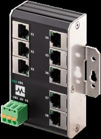 Xenterra 8TX unmanaged Switch 8 Port 1000Mbit Wandmontage