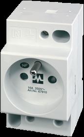 MSVD Prise UTE avec LED 16A-250 VAC câblage AV