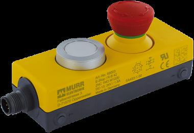 Bouton d'arrêt d'urgence avec 2 contacts NF - Boitier IP65