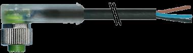 M12 Bu. gew. freies Ltg.-ende Verpolschutz