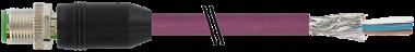 M12St.ger.geschirmt b-cod,freies Ltg-ende,Interbus