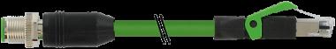 Rallonge Ethernet, M12 codé D mâle droit, RJ-45 mâle,