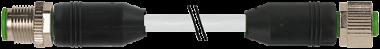 Rallonge M12, connecteur M12 mâle droit, connecteur M12 femelle droit, 2