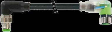 M8 St. gew. auf Bu M8 gew. mit LED