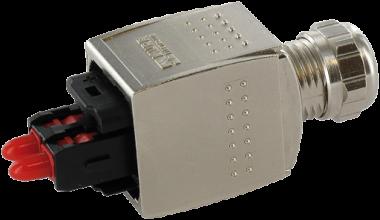 Connecteur Push Pull pour fibre optique à sertir
