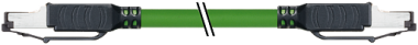 RJ45 droit / RJ45 droit, blindé, Ethernet HAWA
