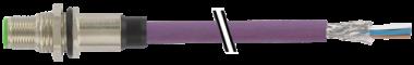 Embase mâle M12 DeviceNet, montage par l'arrière