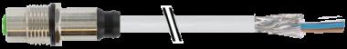 Embase M12 femelle blindée montage par l'arrière
