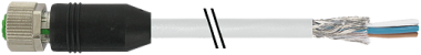MSBL0-TLQ10.0 / Câble PUR 4P blindé