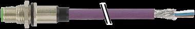 M12 Flanschstecker B codiert Hinterwand Profibus
