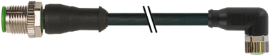 M12 St. ger. auf M8 Bu. gew.