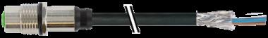 M12 Bu. Flansch geschirmt HWM
