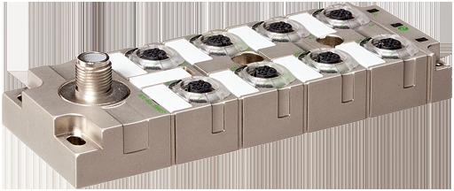 Répartiteur (Hub) IO-Link MVP12 métallique 8xM12 DI8 DO8 K3,