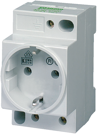 MSVD Prise VDE sans LED 16A-250 VAC câblage AV