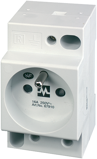 MSVD Prise UTE sans LED 16A-250 VAC câblage AV