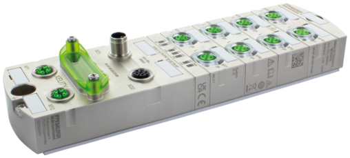 PROFINET Managed Switch 8x10/100BT 2x10/100/1000BT IP67 Metal M12