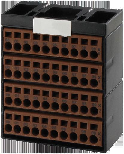 Cube20 Potenzialklemmenblock 4 x braun
