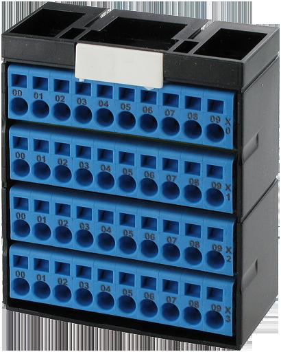 Bornier de potentiels Cube20 4 x bleu