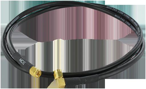Câble antenne SMA 2,4GHz droit vers coudé - 10m
