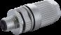 Connecteur M12 mâle droit codé L, raccordement rapide